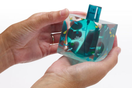 J850 Perfume Bottle A Hands